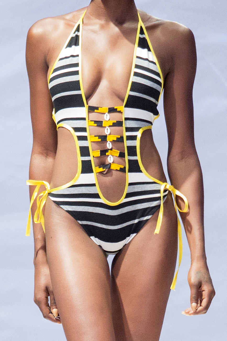 Bri Wireduah One Piece Swimsuit With Side Straps